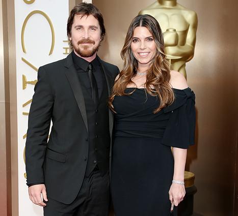 Christian Bale bên vợ. Ảnh: WireImage.