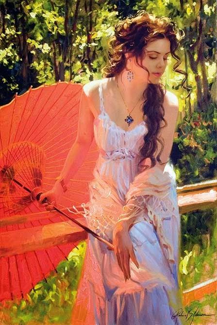 Gương mặt phụ nữ nhìn nghiêng trong tranh họa sĩ Mỹ
