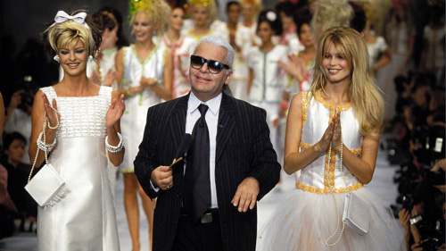 Karl Lagerfeld năm 1996.
