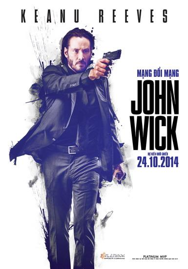 """Poster phim """"John Wick""""."""