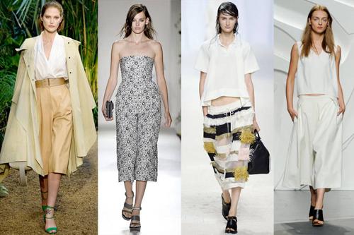 bây giờ, quần lửng culottes trở thành xu hướng thời trang thịnh hành được các hãng thời trang lớn trên Thế Giới khai thác và làm mới kiểu dáng trên nhiều dạng chất liệu đa dạng khác nhau.
