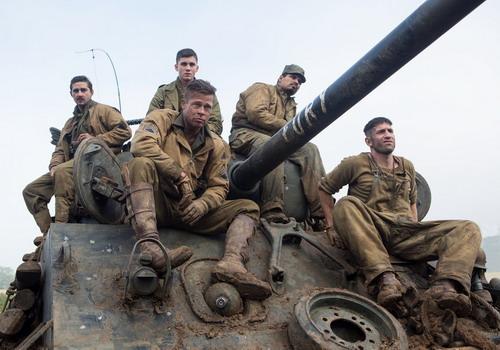 """5 nhân vật chính của phim chiến tranh """"Fury""""."""