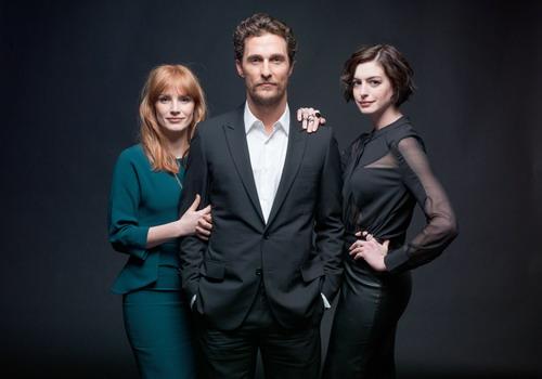 "Jessica Chastain, Matthew McConaughey và Anne Hathaway - ba diễn viên chính của ""Interstellar""."