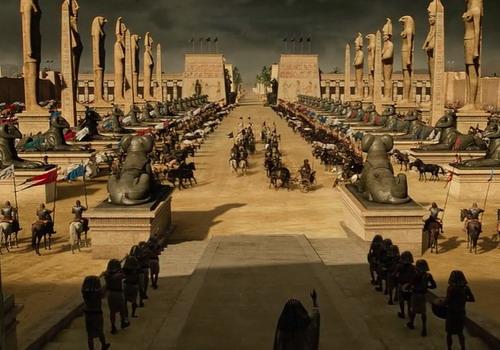 Một đại cảnh được dàn dựng công phu trong phim.