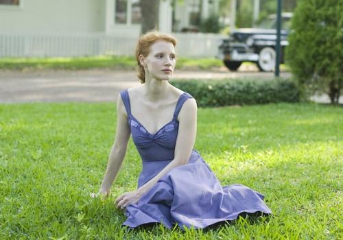 """Vai diễn đầu tiên đưa Jessica Chastain đến gần với khán giả là vai bà mẹ trong phim """"The Tree of Life"""" - Cành Cọ Vàng của LHP Cannes 2011."""
