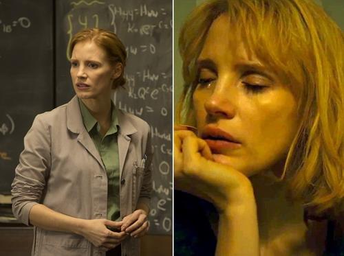 """Trong năm nay, Jessica Chastain lại tiếp tục có hai vai diễn xuất sắc trong hai bộ phim là """"Interstellar"""" (trái) và """"A Most Violent Year""""."""