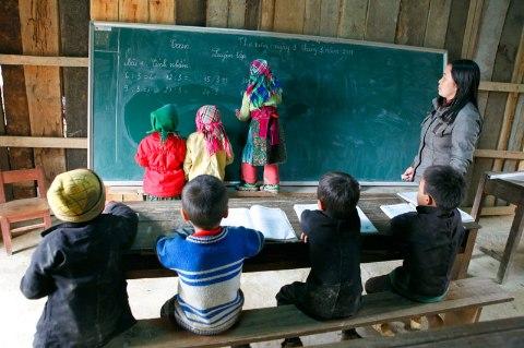 Lớp học vùng cao tỉnh Hà Giang.