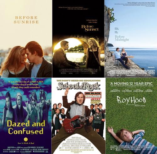 Những bộ phim tiêu biểu trong sự nghiệp tính đến nay của đạo diễn Richard Linklater.