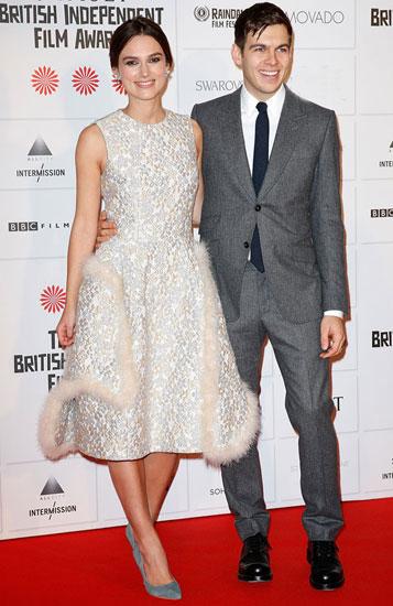 Keira Knightley và chồng. Ảnh: