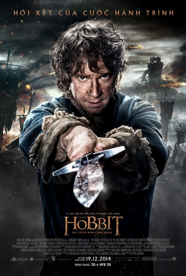 "Poster phim ""The Hobbit: The Battle of the Five Armies""."