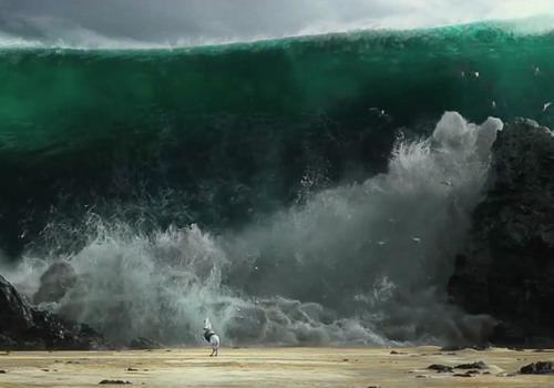"""Cảnh quay sóng thần là điểm nhấn của """"Exodus: Gods and Kings""""."""