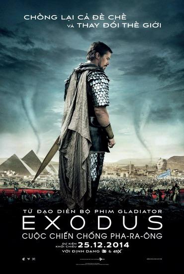 "Poster phim ""Exodus: Gods and Kings""."