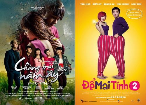 """""""Chàng trai năm ấy"""" và """"Để Mai Tính 2"""" là hai bộ phim bội thu tại các rạp chiếu Việt trong kỳ nghỉ lễ Tết Dương lịch."""