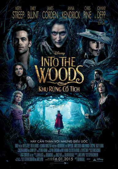 "Poster phim ""Into the Woods""."