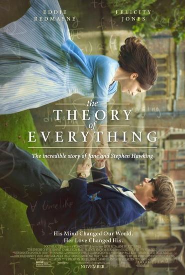 """Poster phim """"The Theory of Everything"""" - ứng viên cho danh hiệu """"Phim hay nhất"""" của Oscar lần thứ 87."""