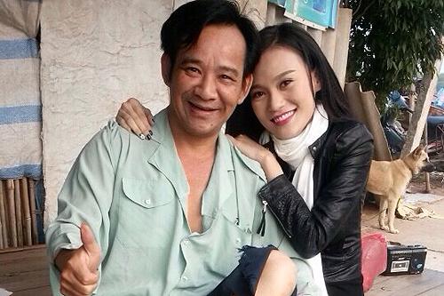 """Cao Thùy Linh được các """"đàn anh"""" như Quang Tèo giúp đỡ nhiều khi tham gia dự án phim hài Tết."""