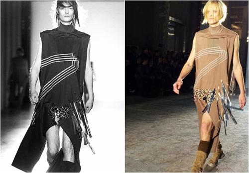 Các mẫu trang phục thu đông dành cho nam tại tuần thời trang thu đông Paris 2015 gây tranh cãi vì những đường cắt khoét phản cảm.