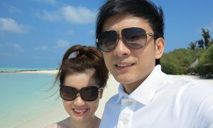 Đan Trường cùng vợ du lịch Maldives