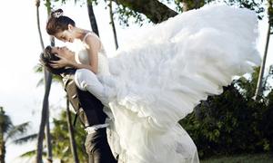 Cặp sao 'Tân Hoàn Châu cách cách' khoe ảnh cưới