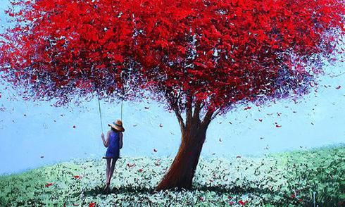 Sắc đỏ trong tranh Dima Dmitriev