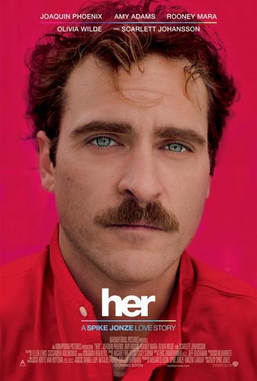 """""""Her"""" - tác phẩm giành giải """"Kịch bản gốc xuất sắc"""" tại Oscar năm ngoái - sẽ chiếu trên HBO đúng vào đêm Valentine 14/2 năm nay."""