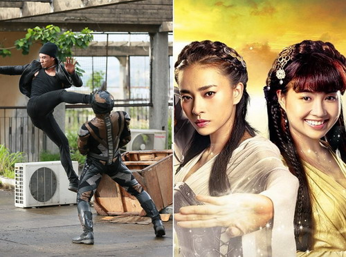 """""""Siêu nhân X"""" (trái) và """"Ngày nảy ngày nay"""" là hai phim có sử dụng nhiều kỹ xảo."""