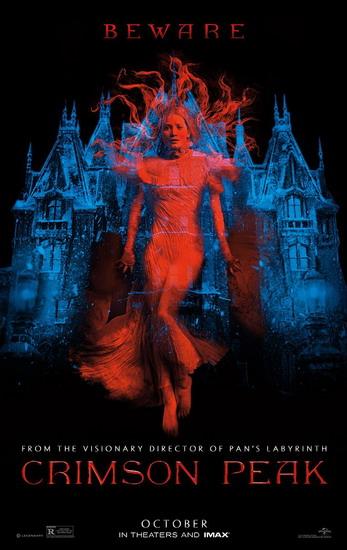 """Poster đầu tiên của phim kinh dị """"Crimson Peak""""."""