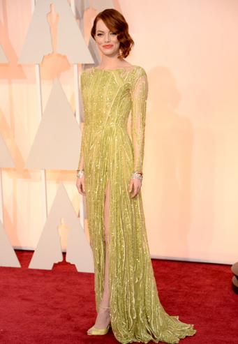 Emma Stone trong váy Elie Saab.