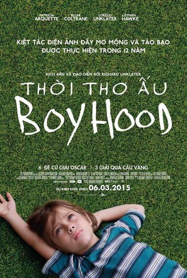"""Poster tiếng Việt của phim """"Boyhood""""."""