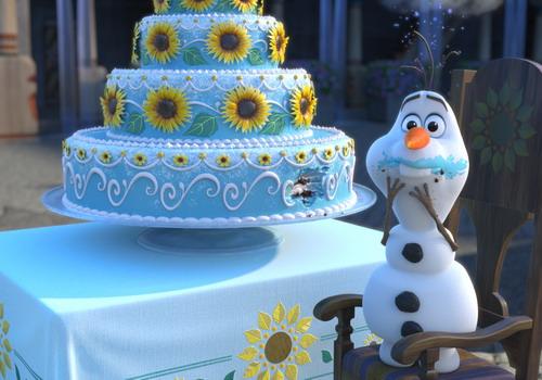 """Người tuyết Olaf trong một cảnh phim """"Frozen Fever""""."""