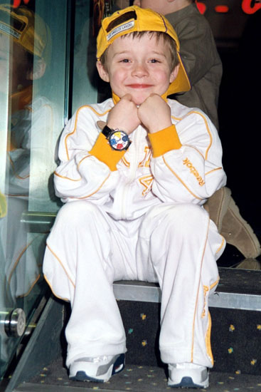 """Brooklyn lúc lên 5, tham dự buổi công chiếu phim """"Scooby Doo"""" năm 2004."""
