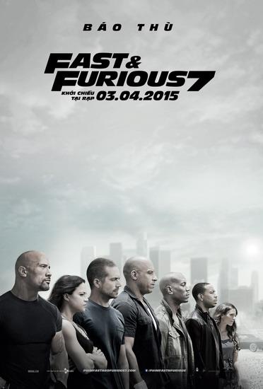 """Poster chính thức của phim """"Fast & Furious 7""""."""