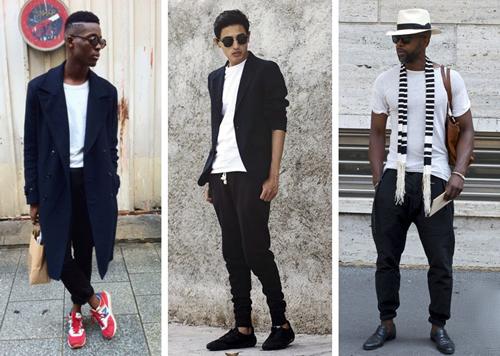 Một số cách phối quần jogger với các loại trang phục, phụ kiện khác nhau của những tín đồ thời trang trên phố.