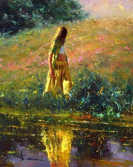 Bóng hồng lãng mạn trong tranh Robert Hagan