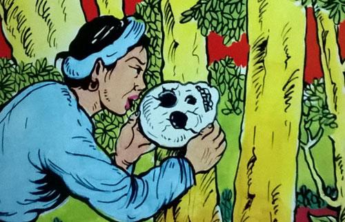 """Hình ảnh minh họa truyện """"Sọ Dừa"""", ấn bản NXB Hồng Đức."""