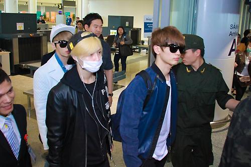 Các nam ca sĩ Min Ho, Tae Min và Jong Hyun