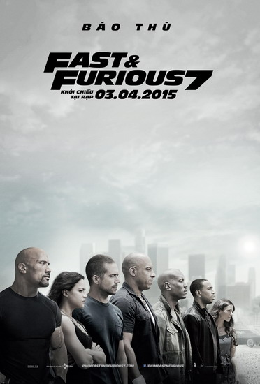 "Poster phim ""Fast & Furious 7""."