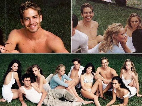 """""""Nụ cười lạc lõng"""" của Paul Walker bên cạnh các ngôi sao khác khi lên tạp chí Vanity Fair năm 2000."""