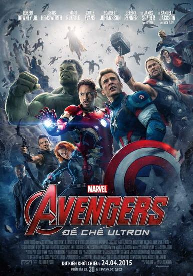"""Poster chính thức của bom tấn hè """"Avengers: Age of Ultron""""."""