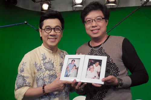Nghệ sĩ Thành Lộc (trái) cùng MC Thanh Hiệp.