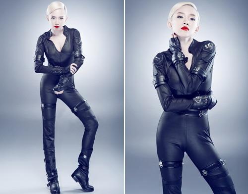 Tóc Tiên khoe thân hình gợi cảm khi hóa thân thành Black Widow - nhân vật gắn liền với Scarlett Johansson.
