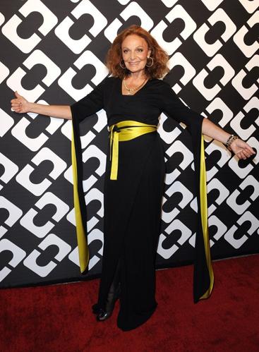 Chiếc váy quấn được coi là thiết kế gắn liền với tên tuổi Diane von Furstenberg trong suốt 40 năm qua. Ảnh: Zimbio
