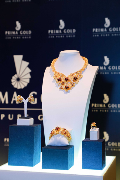 Prima Gold đã mang đến Elle Style Awards Việt Nam 2015 bộ sưu tập Polleni Orchid tinh tế, thanh lịch.