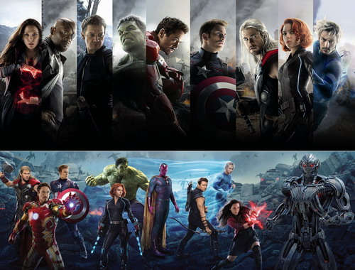 """Dàn minh tinh, tài tử tham gia vào """"Avengers: Age of Ultron""""."""
