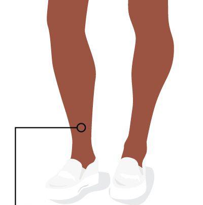 4. Chân kẹo que Kiểu chân kẹo que có phần bắp chân lớn nhất rơi vào khoảng giữa đôi chân, các phần khác thon gọn nên tổng thể trông cân đối hơn so với chân cầu thủ.