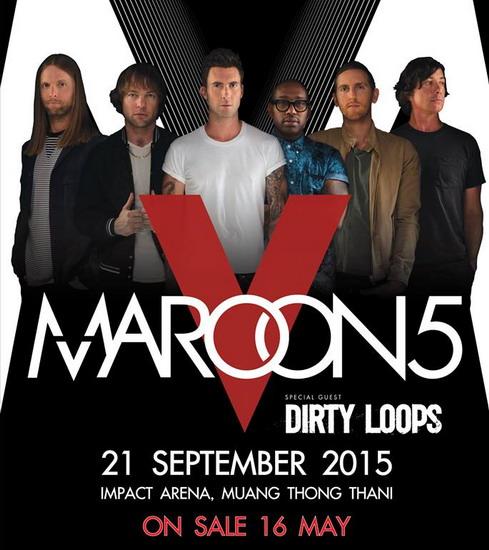Nhóm Maroon 5 bắt đầu chuyến lưu diễn tới châu Á vào đầu tháng 9 năm nay.