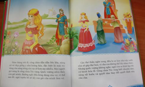 Sách cổ tích có chi tiết cha muốn kết hôn với con gái