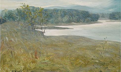 Miền núi hoang sơ trong tranh Thái Tĩnh
