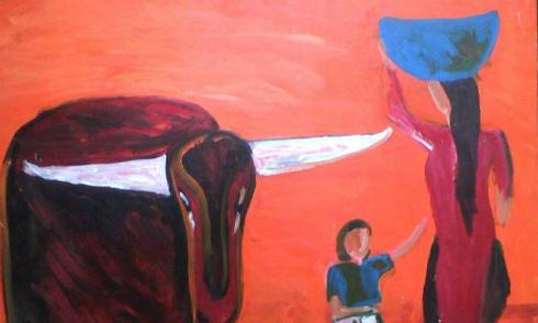 Ký ức tuổi thơ trong tranh họa sĩ khuyết tật Lê Quang Lĩnh
