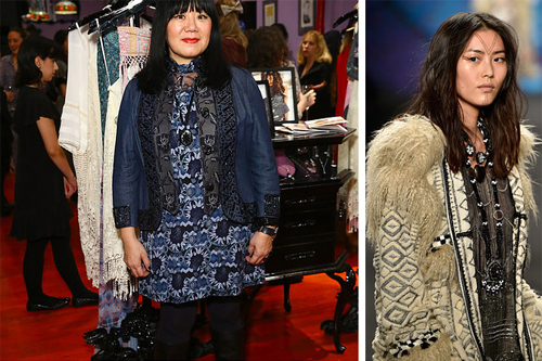 In a world of neutral simplicity, Anna Sui stands out with her colorful details and eccentric patterns. At age 4, she decided that being a fashion designer was for her and vowed to never wear the same outfit twice in one year.  Fun Fact: She partnered with Mattel to launch a limited edition Anna Sui Boho Barbie.